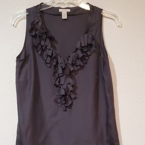 J.CREW sleeveless blouse size 2/ 100% Silk